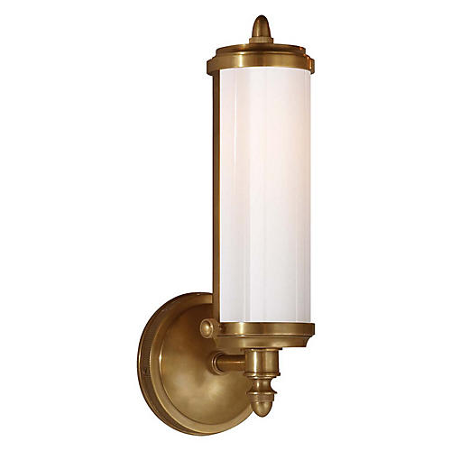Merchant Sconce, Hand-Rubbed Antiqued Brass