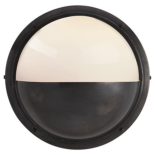 Pelham Moon Sconce, Bronze