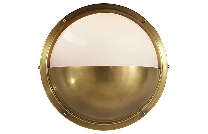 Pelham Moon Sconce, Brass