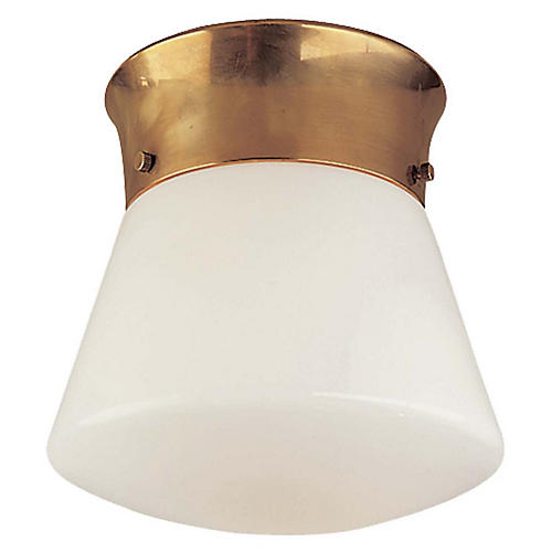 Perry Flush Mount, Antiqued Brass