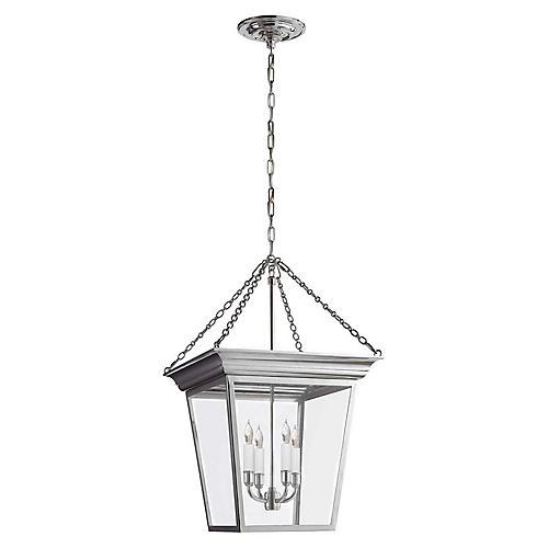 Cornice Small Lantern, Polished Nickel