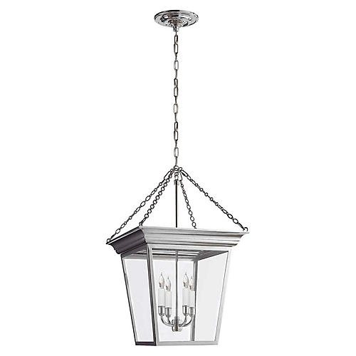 Cornice Small Lantern, Polished Nickel