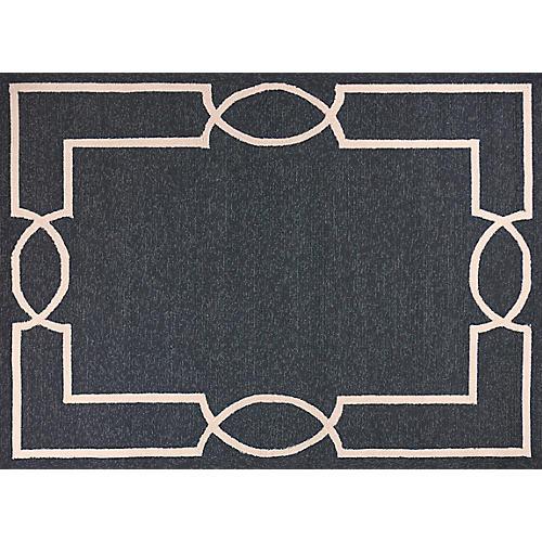 Ambrosio Outdoor Rug, Onyx