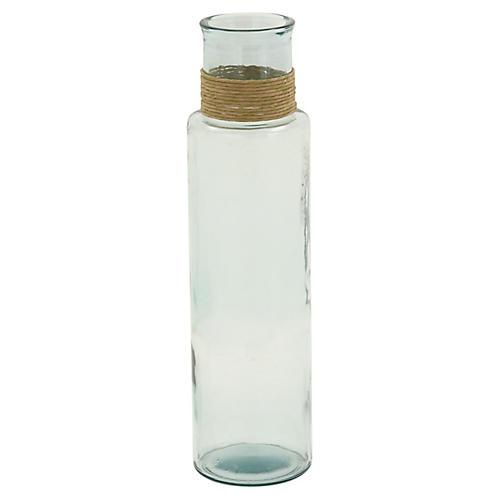 "22"" Prescott Bottle Vase, Aquamarine"