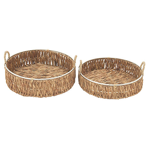 Asst. of 2 Audemar Decorative Baskets, Natural