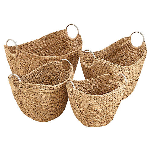 Asst. of 4 Draysen Decorative Baskets, Natural
