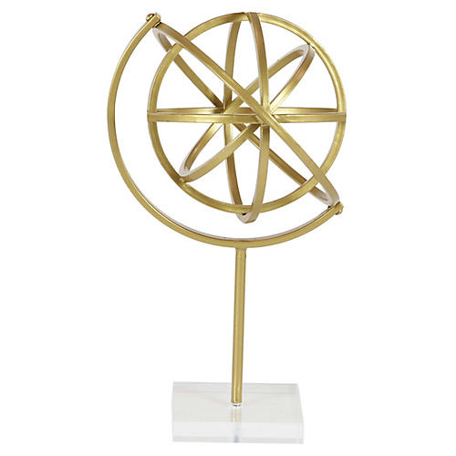 "16"" Armillary Accent, Gold"
