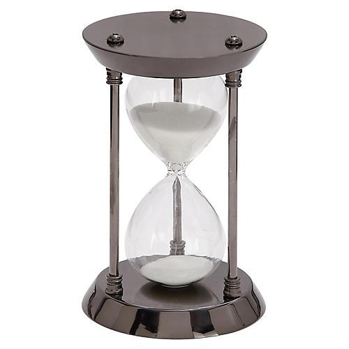 "7"" Barrow 15-Minute Hourglass, Black"