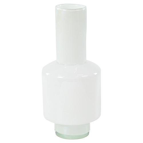 "20"" Leah Tall Vase, White"