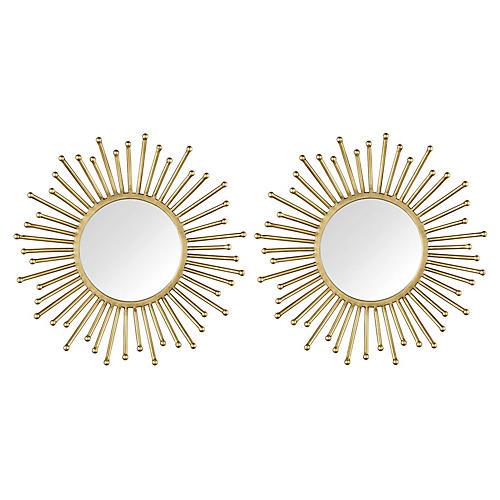 Markos Accent Mirrors, Gold