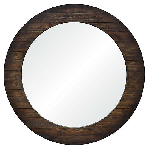 Coco Wall Mirror, Brown