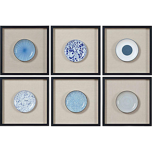 S/6 Santos Wall Decor, Blue