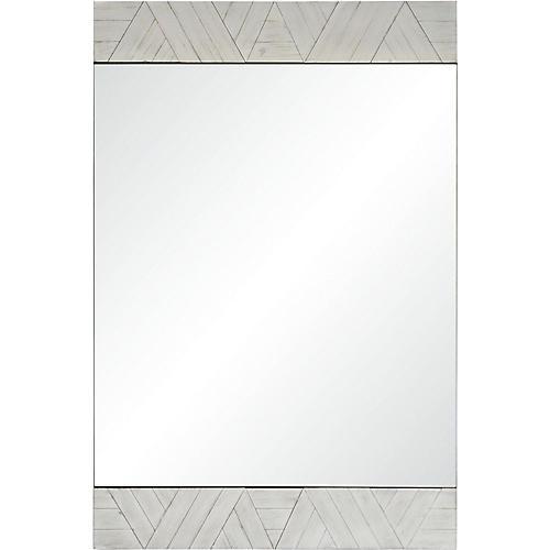 Brierwood Wall Mirror, Whitewash