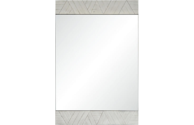 Brierwood Wall Mirror, Whitewash