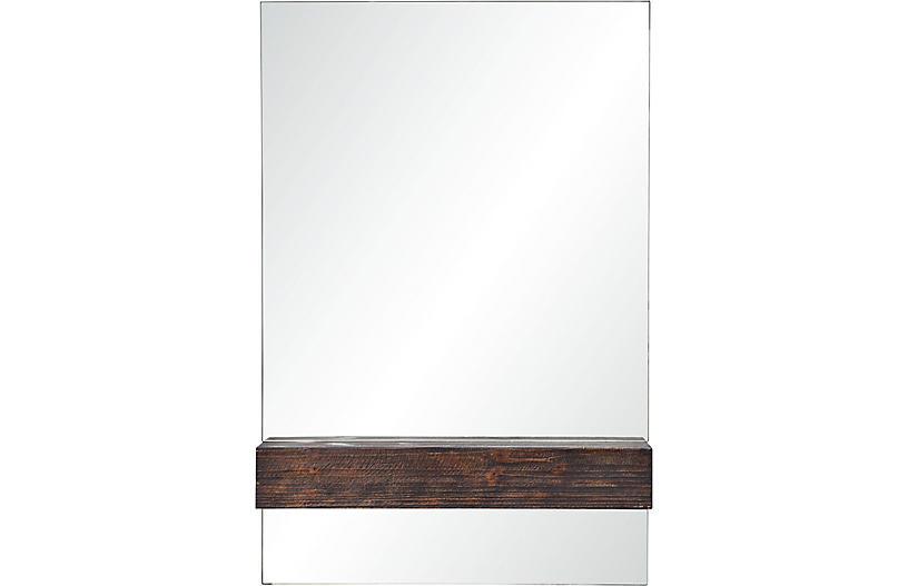 Kali Wall Mirror, Chestnut