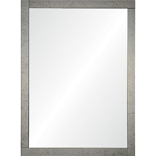 Atara Wall Mirror, Antiqued Silver