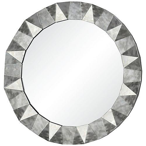 Hadleigh Wall Mirror, Antiqued Mirror