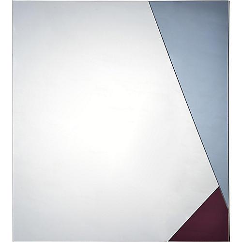 Siro Wall Mirror, Cloud/Amethyst