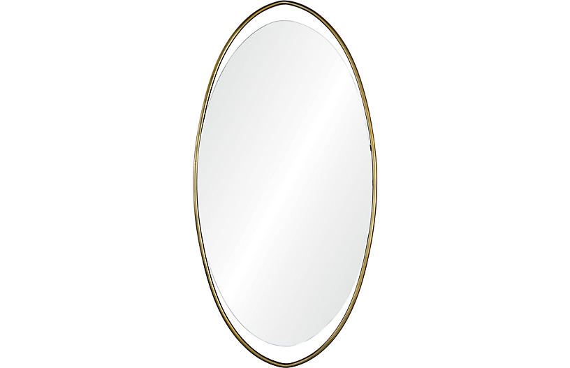 Sonnet Wall Mirror, Brass