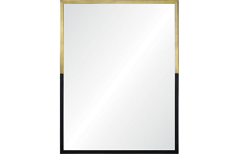 Leslie Wall Mirror, Black/Gold