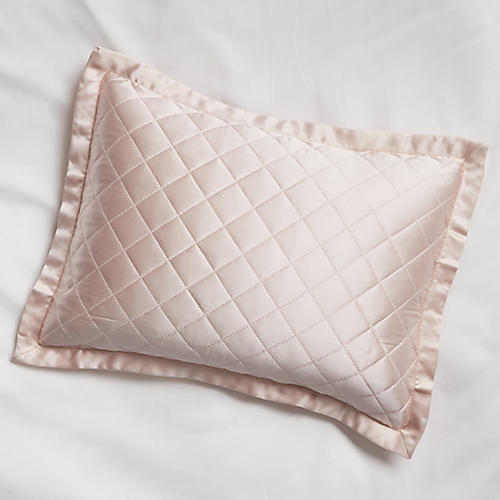 Quilted Boudoir Sham, Cotton Candy