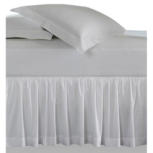 Celeste Bed Skirt, White