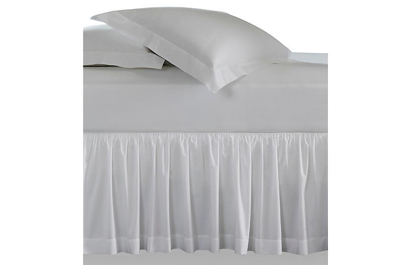 Celeste Bed Skirt, White
