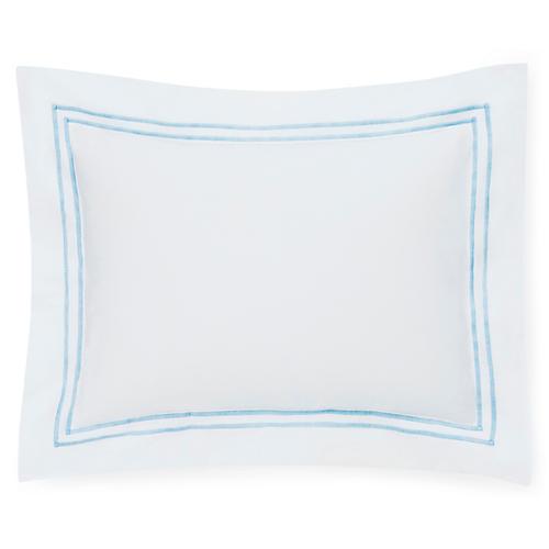 Grande Hotel Boudoir Sham, White/Blue