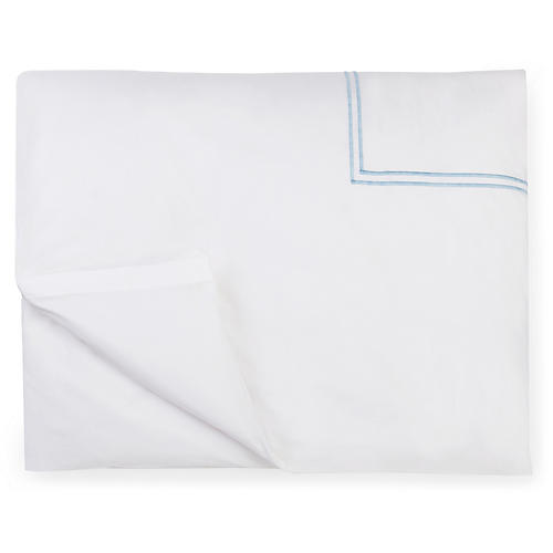 Grande Hotel Duvet Cover, White/Blue
