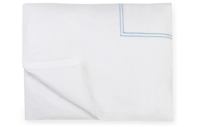 Grande Hotel Duvet Cover, White/Blue