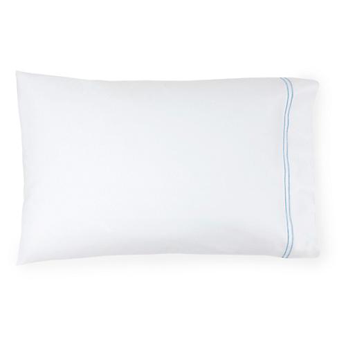 S/2 Grande Hotel Pillowcases, White/Blue