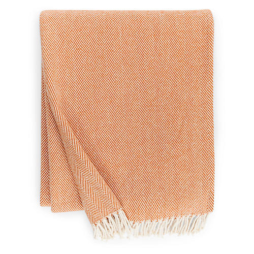 Celine Cotton Throw, Paprika
