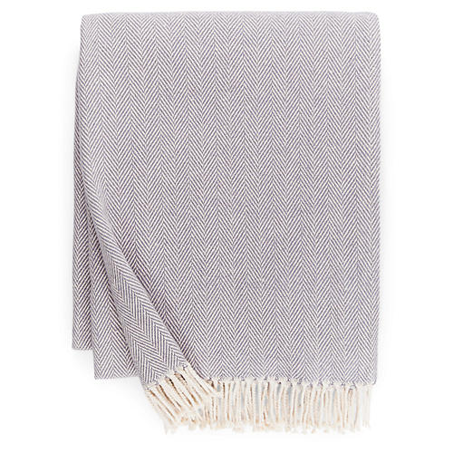 Celine Cotton Throw, Lilac