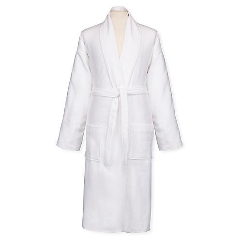 Berkley Reverse Bath Robe, White
