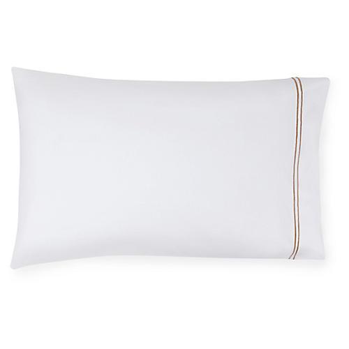 S/2 Grande Hotel Pillowcases, White/Taupe