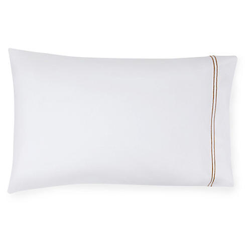 S/2 Grande Hotel Pillowcases, White/Taupe
