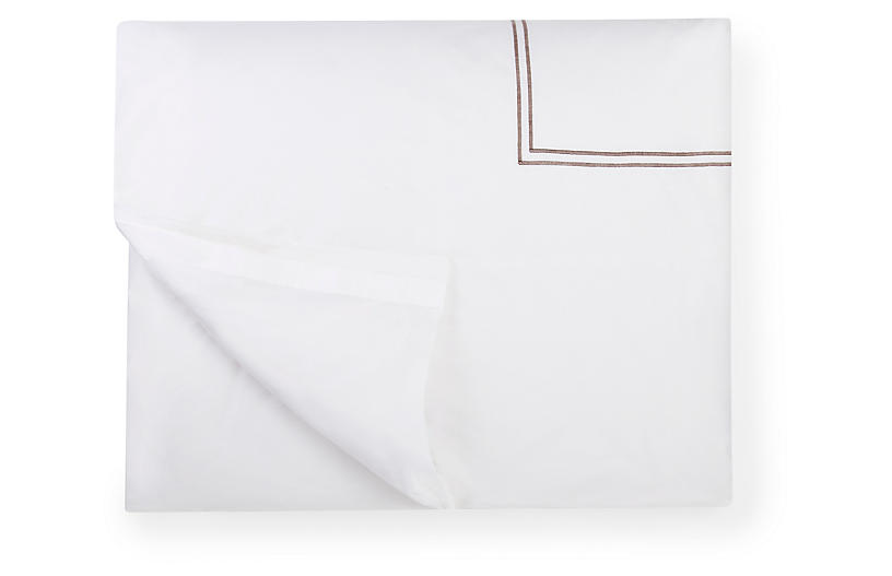 Grande Hotel Duvet Cover, White/Gray