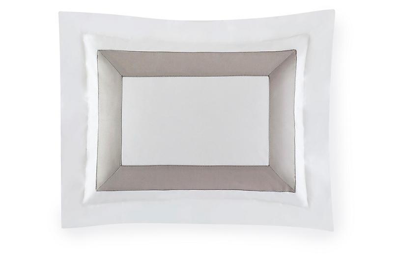 Orlo Boudoir Sham, White/Gray