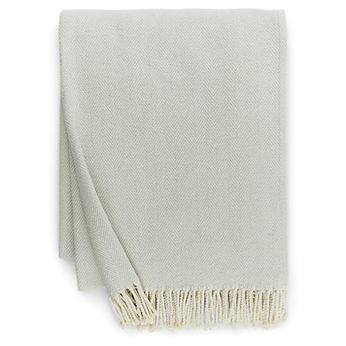 Celine Cotton Throw, Silversage