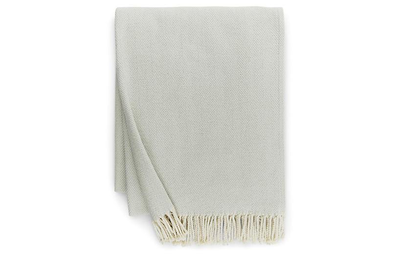 Celine Cotton Throw, Silversage