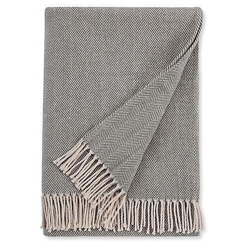 Celine Cotton Throw, Charcoal