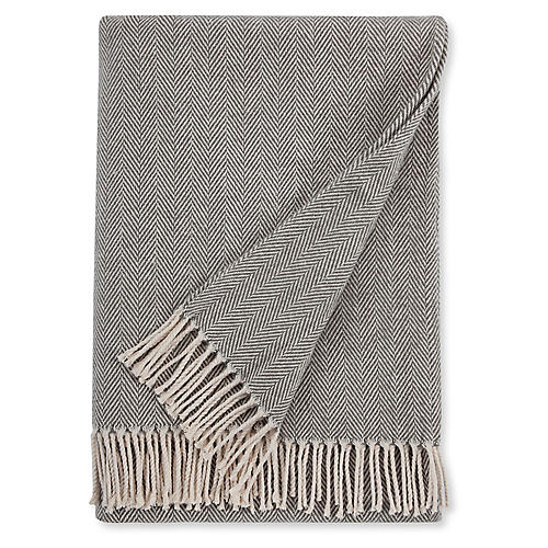 Celine Cotton Throw, Charcoal
