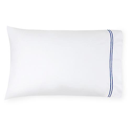 S/2 Grande Hotel Pillowcases, Cornflower
