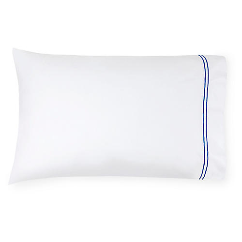 S/2 Grande Hotel Pillowcases, Cornflower