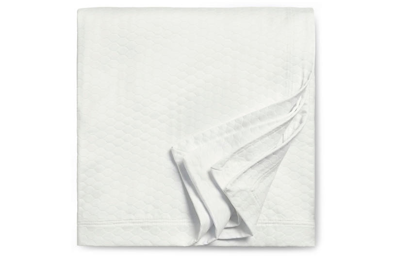 Favo Coverlet, Ivory