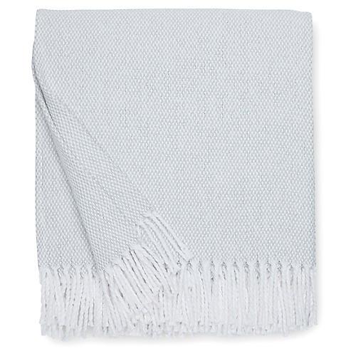 Terzo Cotton Throw, Silversage