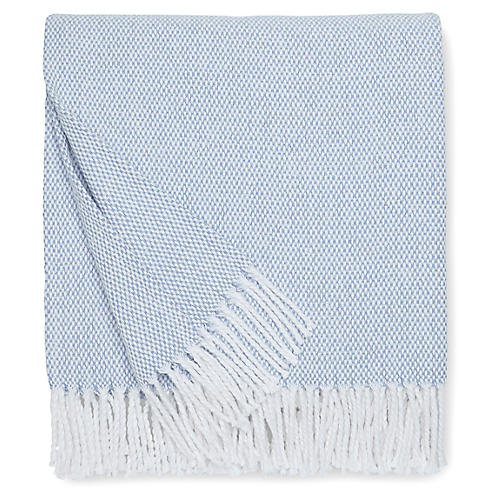 Terzo Cotton Throw, Ocean