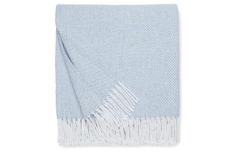 Terzo Cotton Throw, Ocean