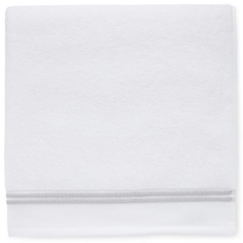 Aura Washcloth, White/Gray