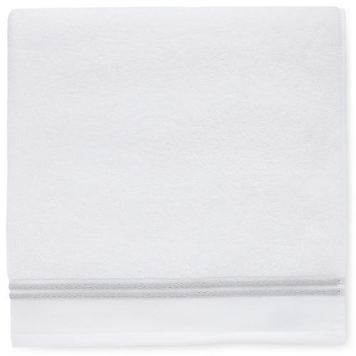 Aura Washcloth, White/Gray